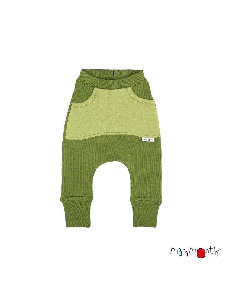 ManyMonths ManyMonths - broek, kangaroo, wol, garden moss green (0-2j)