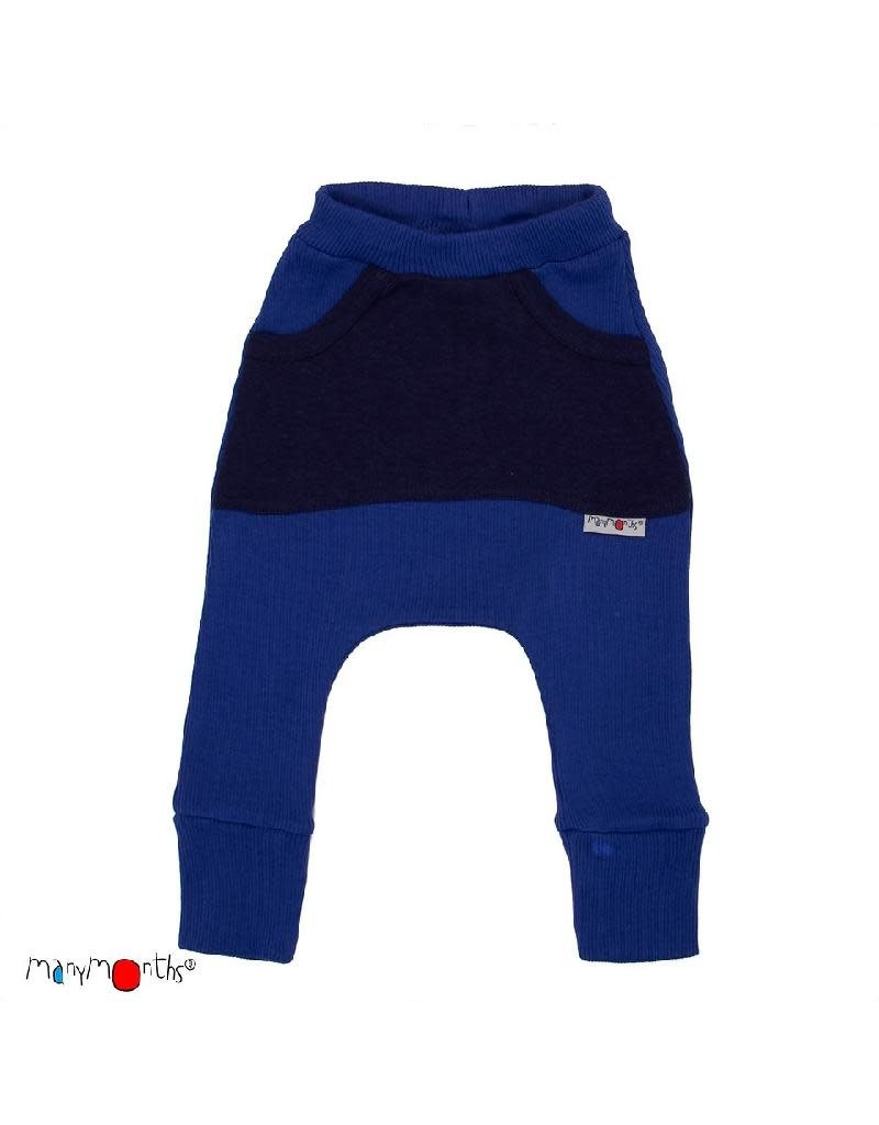 ManyMonths ManyMonths - broek, kangaroo, wol, jewel blue (0-2j)