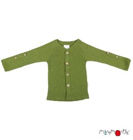 ManyMonths Cardigan, adjustable sleeves, garden moss green (3-16j)