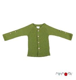 ManyMonths Cardigan, adjustable sleeves, garden moss green (3-16j)