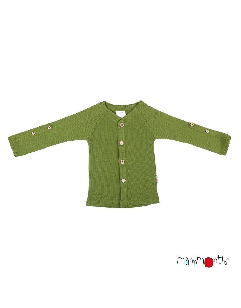 ManyMonths ManyMonths - cardigan, adjustable sleeves, garden moss green (3-16j)