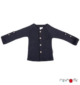 ManyMonths Cardigan, adjustable sleeves, foggy black (3-16j)