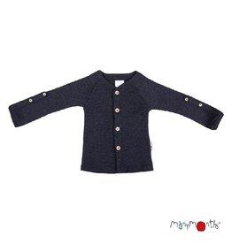 ManyMonths Cardigan, adjustable sleeves, foggy black (3-16j)