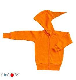 ManyMonths Trui met kap en rits, festive orange (0-2j)