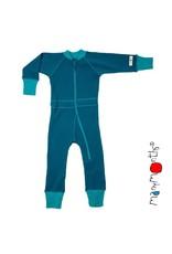 ManyMonths ManyMonths - jumpsuit, wol, mykonos waters/royal turquoise (0-2j)