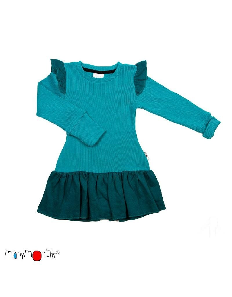 ManyMonths ManyMonths - jurk, fairy, ls, wol, royal turquoise (0-2j)