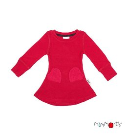 ManyMonths Jurk, heart pocket, ls, wol, cranberry nectar (0-2j)
