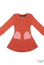 ManyMonths ManyMonths - jurk, heart pocket, ls, wol, rooibos red (3-16j)