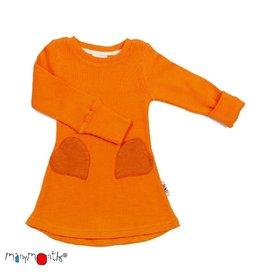 ManyMonths Heart pocket jurk, festive orange (0-2j)
