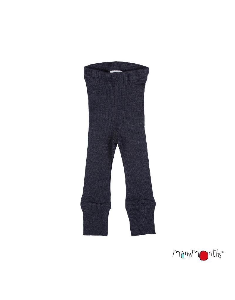 ManyMonths ManyMonths - legging, unisex, wol, foggy black (3-16j)