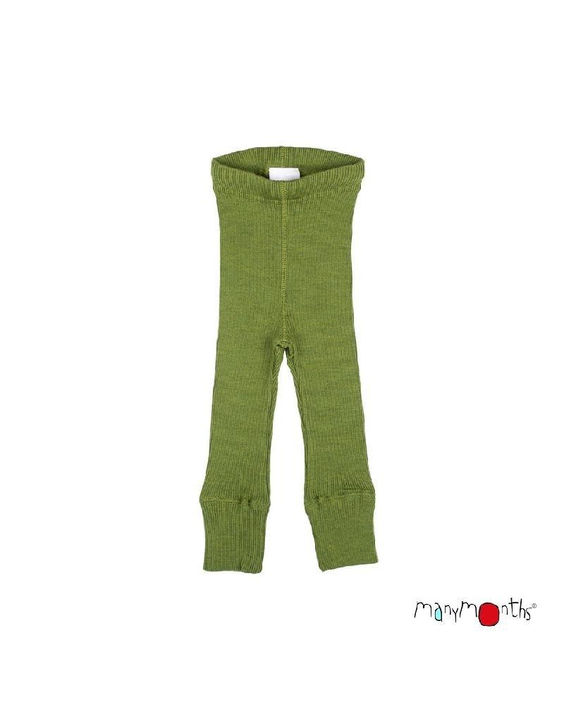 ManyMonths ManyMonths - legging, unisex, wol, garden moss green (3-16j)