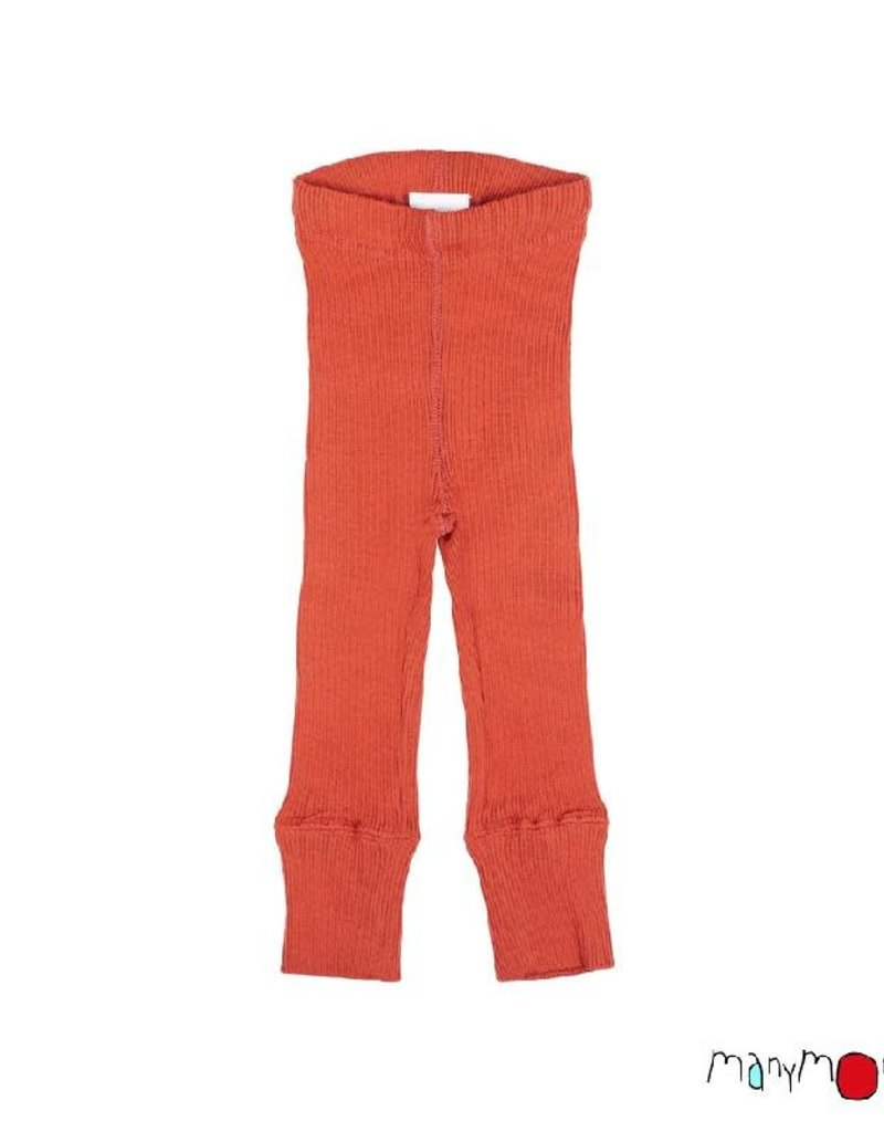 ManyMonths ManyMonths - legging, unisex, wol, rooibos red (0-2j)