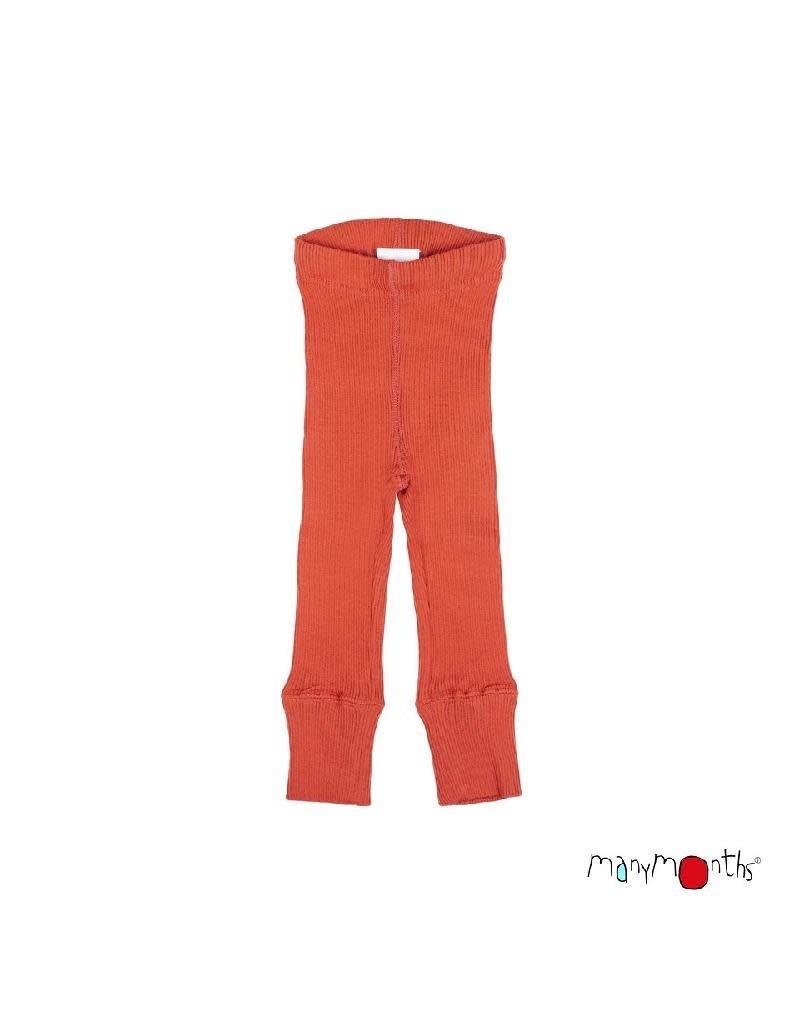 ManyMonths ManyMonths - legging, unisex, wol, rooibos red (3-16j)