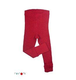 ManyMonths Legging, unisex, wol, raspberry red (3-16j)