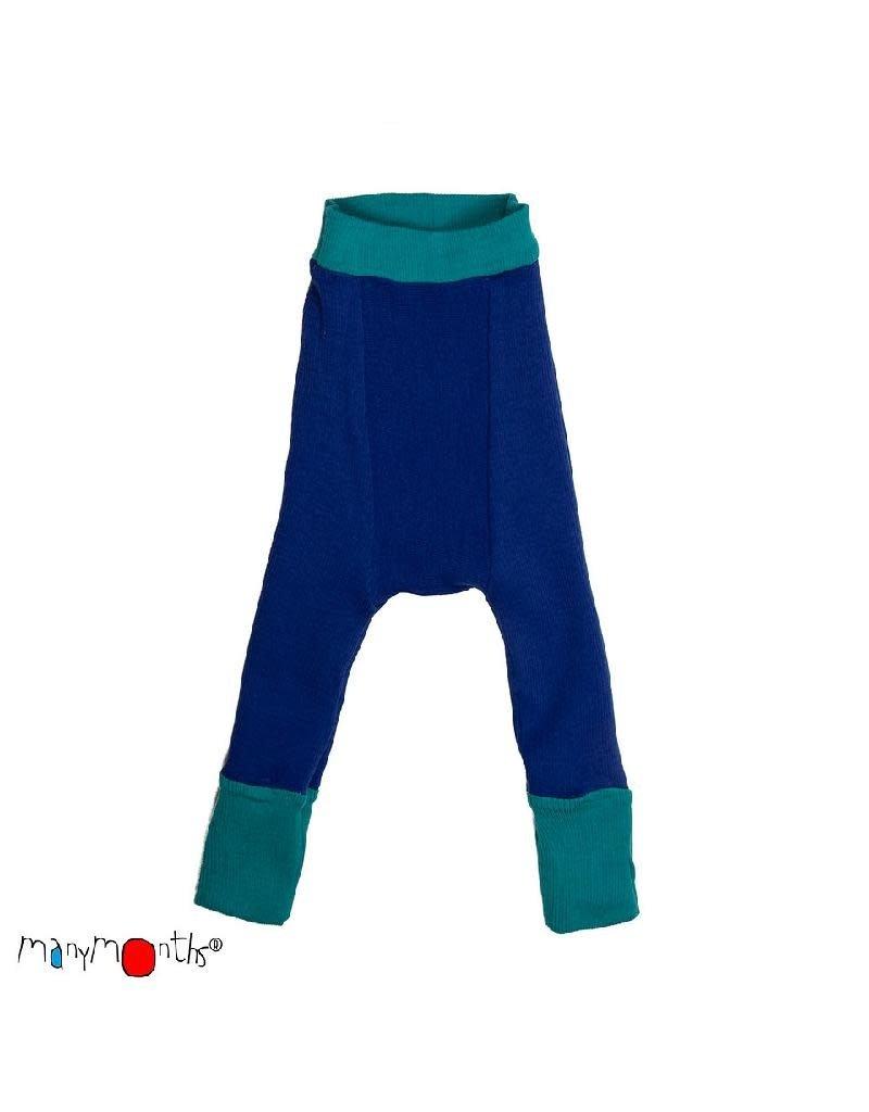ManyMonths ManyMonths - longies, wol, royal turquoise with jewel blue (0-2j)