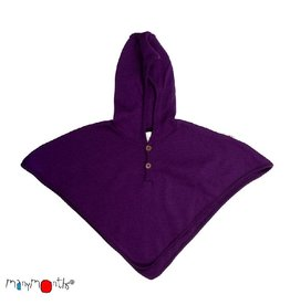 ManyMonths Multi-cape, hooded altair, wol, majestic plum (0-2j)