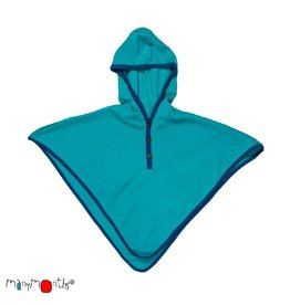 ManyMonths Multi-cape, hooded altair, wol, royal turquoise with mykonos waters (0-2j)