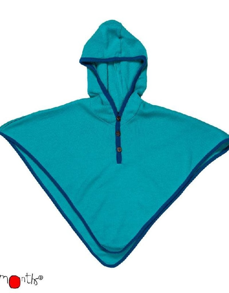 ManyMonths ManyMonths - multi-cape, hooded altair, wol, royal turquoise with mykonos waters (0-2j)