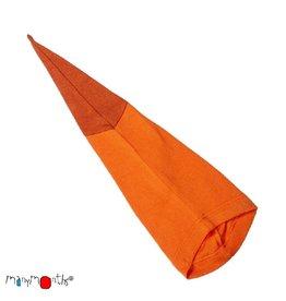 ManyMonths Muts, beanie, long tail, wol, festive orange (0-2j)