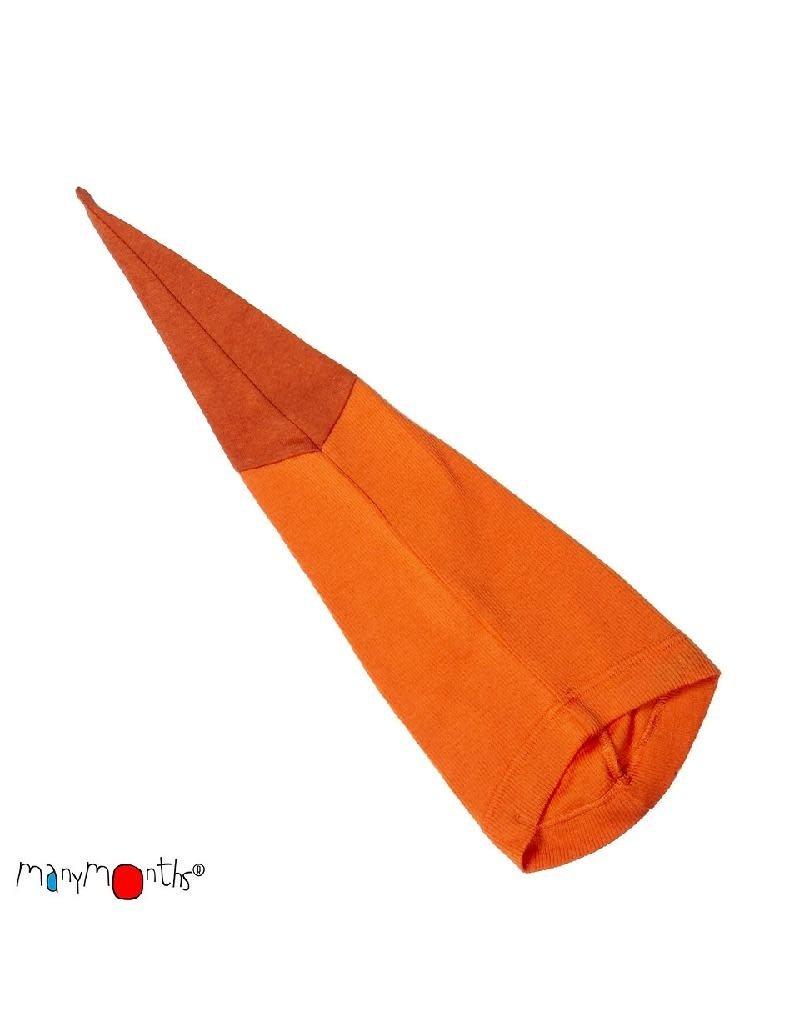ManyMonths ManyMonths - muts, beanie, long tail, wol, festive orange (0-2j)