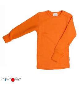 ManyMonths Shirt, wol, festive orange (0-2j)