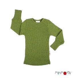 ManyMonths Shirt, wol, garden moss green (3-16j)