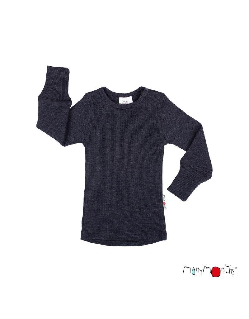 ManyMonths ManyMonths - shirt, wol, foggy black (3-16j)