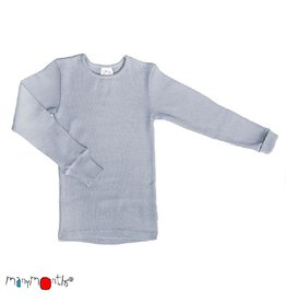 ManyMonths Shirt, wol, bright silver (3-16j)