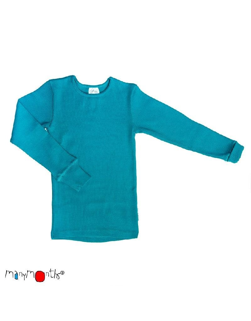 ManyMonths ManyMonths - shirt, wol, royal turquoise (0-2j)