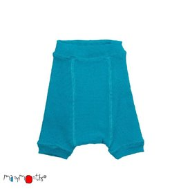 ManyMonths Shorties, wol, royal turquoise (0-2j)