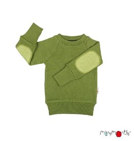 ManyMonths Trui met elleboogstukken, garden moss green (3-16j)