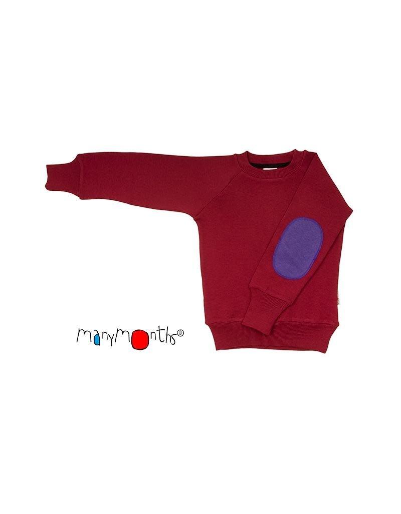 ManyMonths ManyMonths - trui, wol/hennep, raspberry red (0-2j)