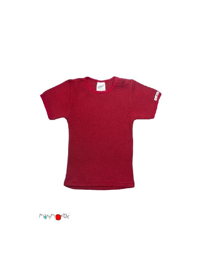 ManyMonths ManyMonths - T-shirt, wol, raspberry red (0-2j)