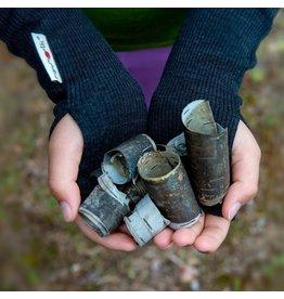 MaM Lange handschoen zonder vingers, foggy black