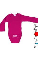 ManyMonths ManyMonths - body/shirt, ls, wol, lilac rose (0-2j)