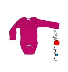 ManyMonths Body/shirt, ls, wol, lilac rose (0-2j)