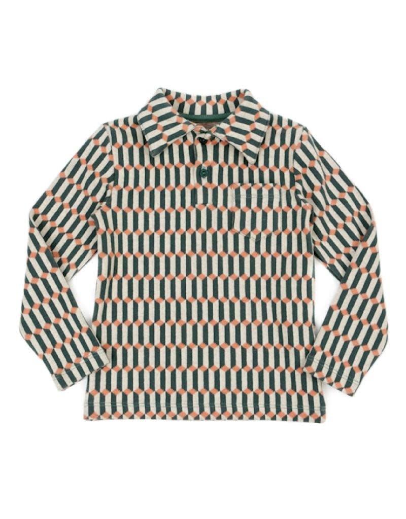Lily Balou Lily Balou - jack polo shirt, blocks green (3-16j)
