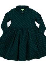 Lily Balou Lily Balou - mia dress, diagonal green (3-16j)