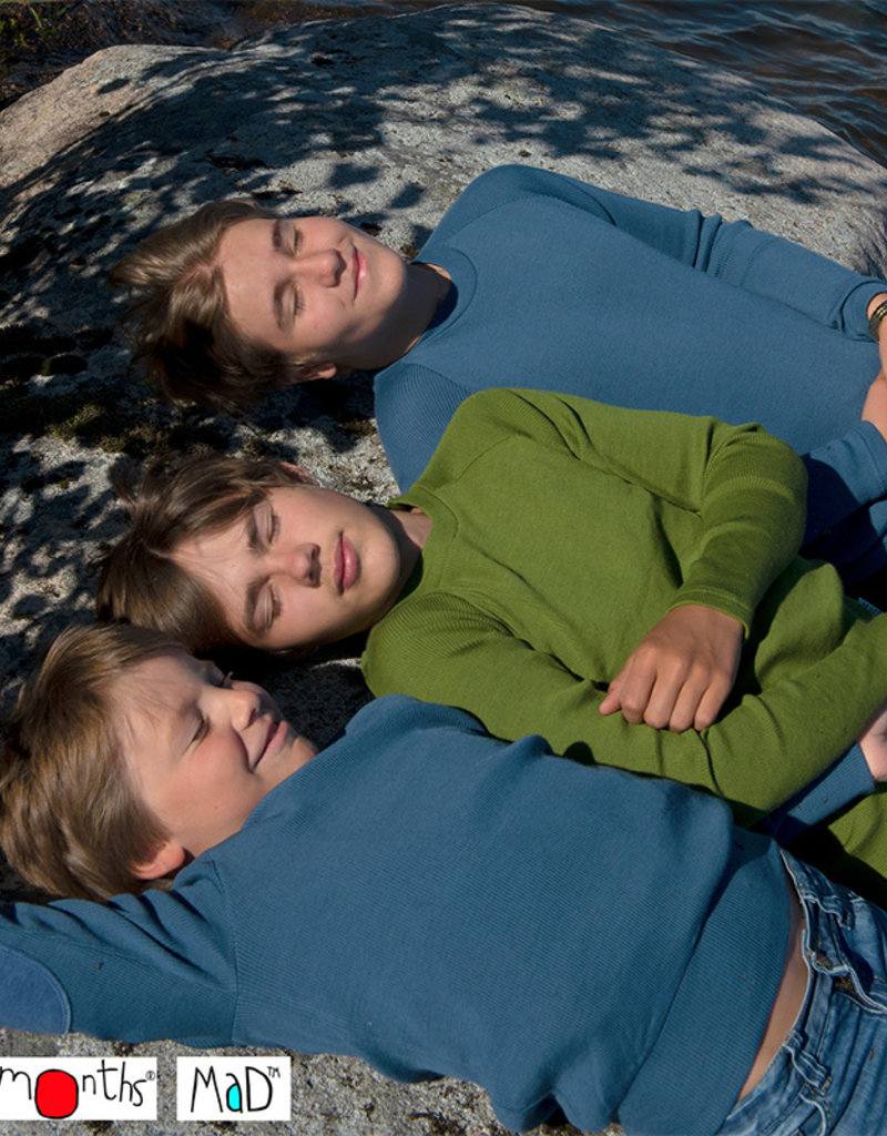 ManyMonths ManyMonths - shirt, wol, garden moss green (3-16j)