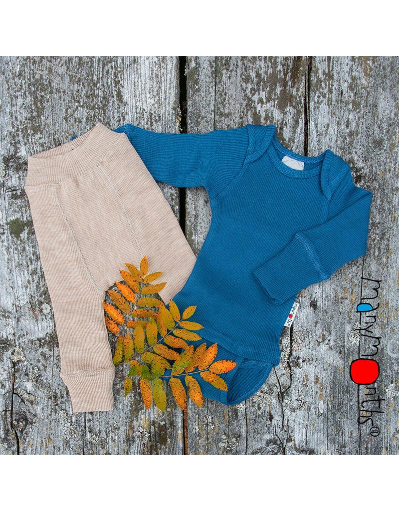 ManyMonths ManyMonths - body/shirt, ls, wol, cosmos blue (0-2j)