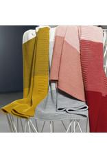 Disana Disana - deken, knitted, bordeaux/roze, 100 x 80 cm