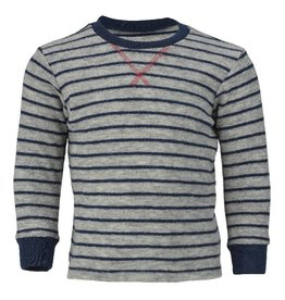 Engel Pyjamatrui, wol badstof, lichtgrijs melange/marine (3-16j)