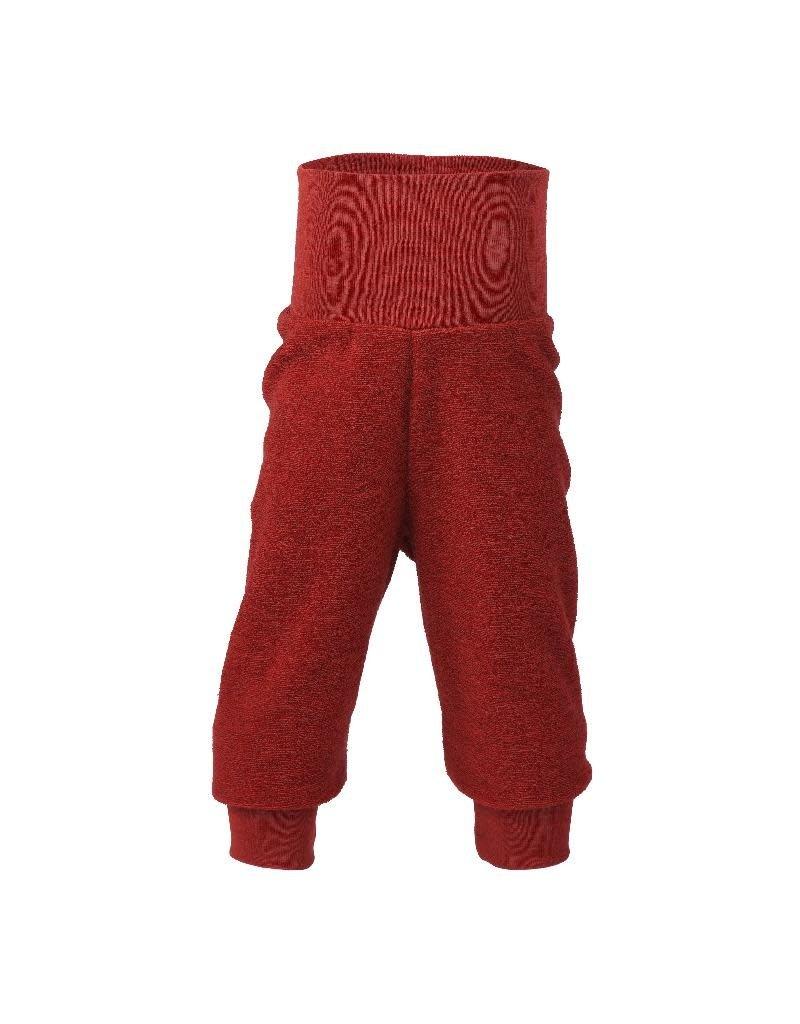 Engel Engel - broek, wol badstof, rood melange (0-2j)