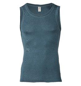 Engel Onderhemd, sl, wol/zijde, atlantic