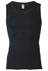 Engel Engel Man - onderhemd, sl, wol/zijde, zwart