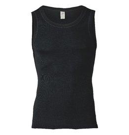 Engel Onderhemd, sl, wol/zijde, zwart