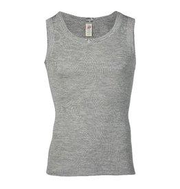 Engel Onderhemd, sl, wol/zijde, lichtgrijs melange