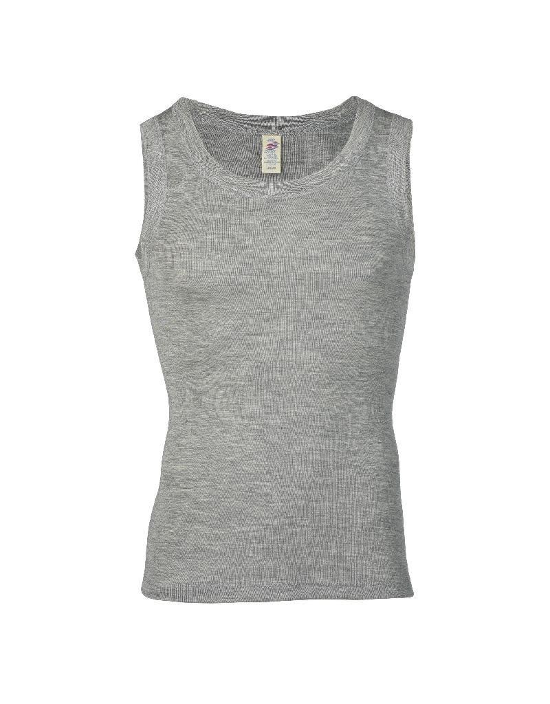 Engel Engel Man - onderhemd, sl, wol/zijde, lichtgrijs melange