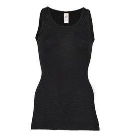 Engel Onderhemd, sl, lang, wol/zijde, zwart