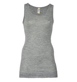 Engel Onderhemd, sl, lang, wol/zijde, lichtgrijs melange